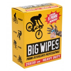 5 PANNI PULIZIA MANI e BICI BIG WIPES in pack monouso x 5 pack